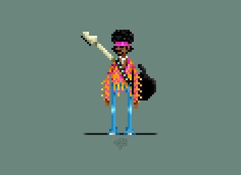 Pixel art - Jimy Hendrix