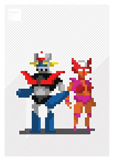 Pixel art - Mazinger Z & Aphrodite