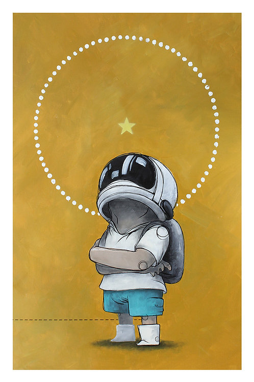 Art print - The first boy on space