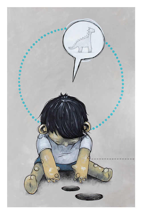 Art print - A boy looking for the past