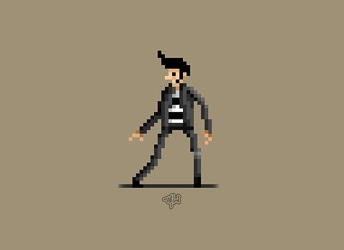 Pixel art - Elvie Presley (jailhouse)