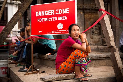 RESTING IN THE DANGER ZONE Kathmandu, Basanthapur Square