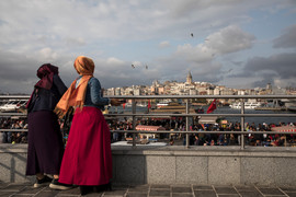 View on Galata Tower - Istanbul, TURKEY