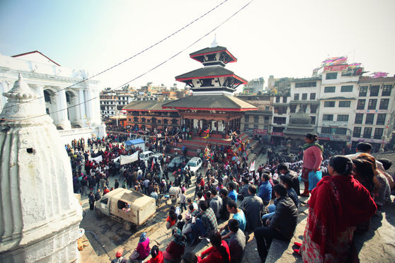 YOMARI PUNHI FESTIVAL: POINT OF VIEW FROM MAJU DEVAL Kathmandu, Basanthapur Square