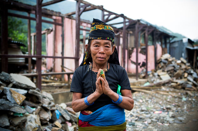 NAMASTE AMONG THE RUBBLE Dhodeni