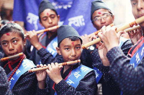 YOMARI PUNHI: YOUNG FLUTE PLAYERS Kathmandu