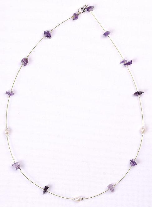 Handmade Necklace Amethyst