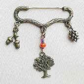 'Tree' Brooch   bronze