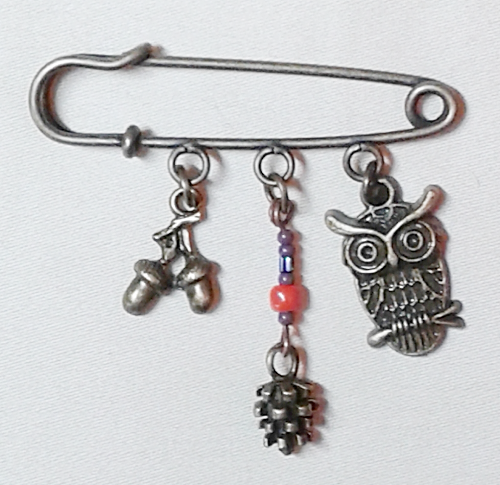 'Owl' Pin   bronze