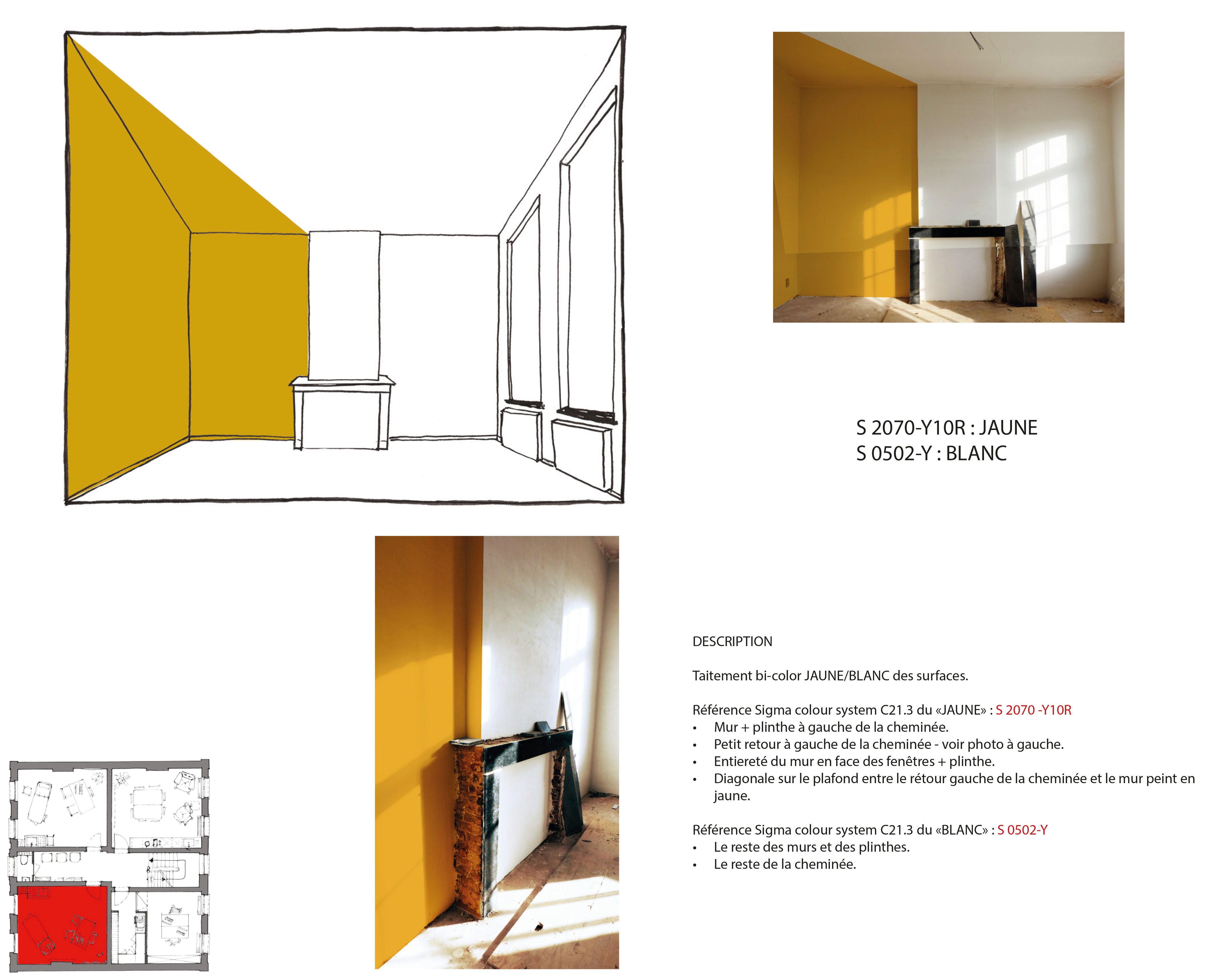 Cabinet jaune curcuma