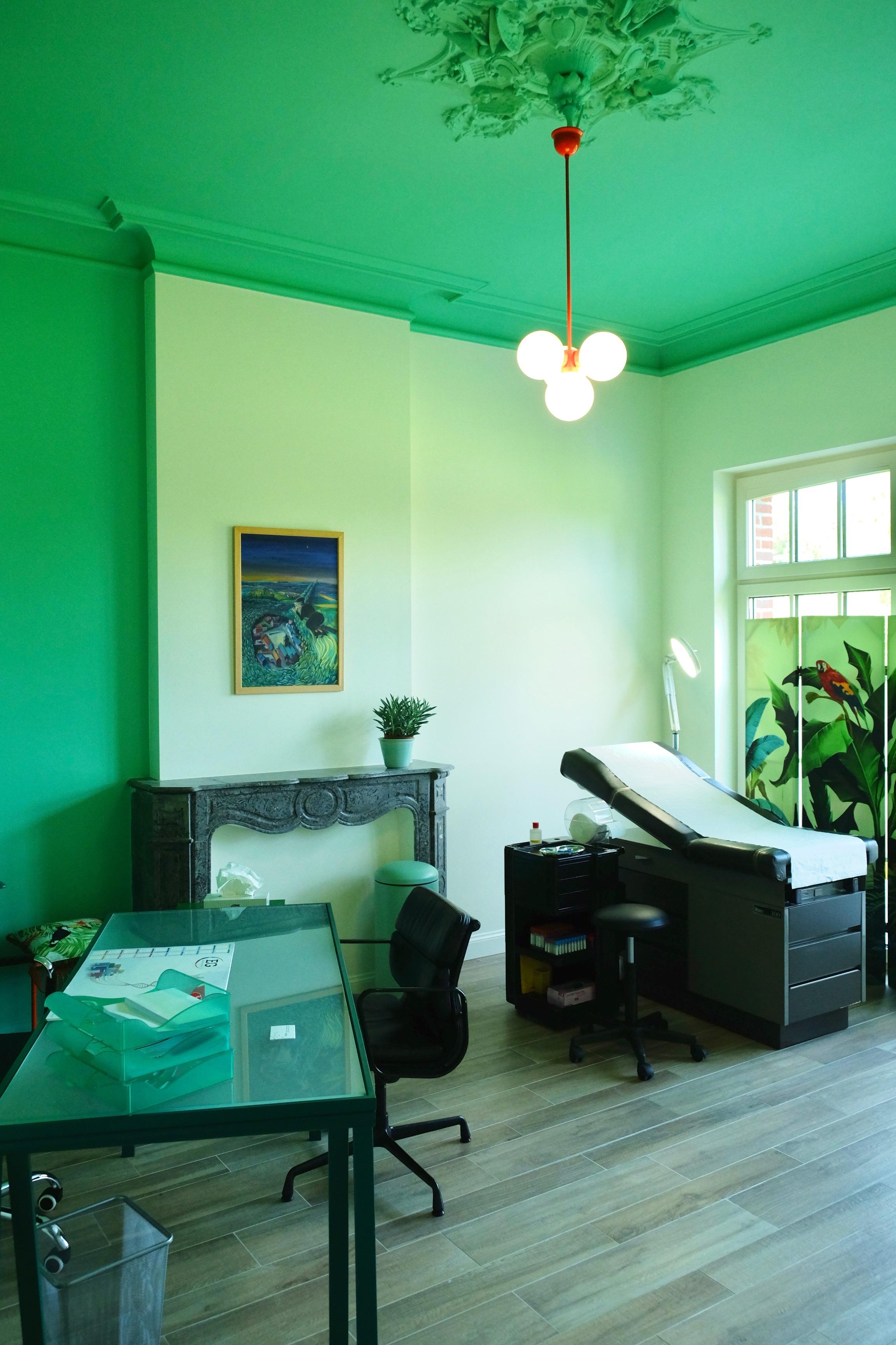 Cabinet vert menthe