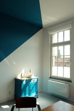 Cabinet bleu canard