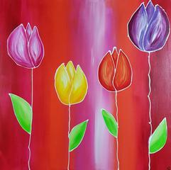 Gesa Stolting My Tulip Family 70x70x2cm