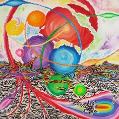 Gesa Stolting Roots of Colour 100x100x2cm