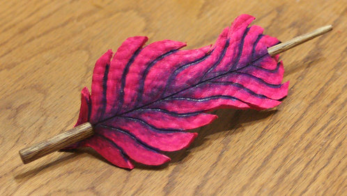 'Vibrant Feather' Hair Clasp