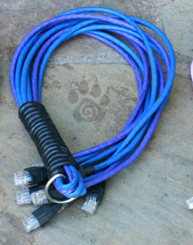 Blue, Purple & Black Cat-5 'O Nine Tails