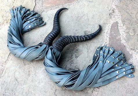 Matched Set - Springbok Horn & Rivet Tipped Floggers