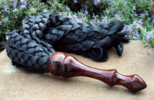 Braided Bullhide & Cocobolo Handled Flogger