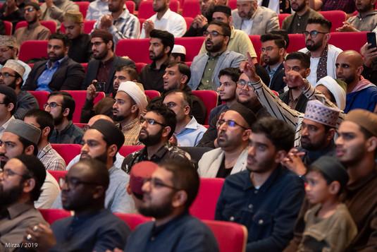 A mesmerised audience.