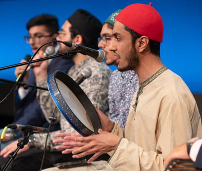Qari Mubashir Anwar and Munshids performing during the spiritual evening.