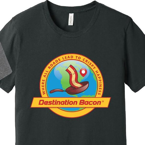 Destination Bacon Dark Grey T-Shirt