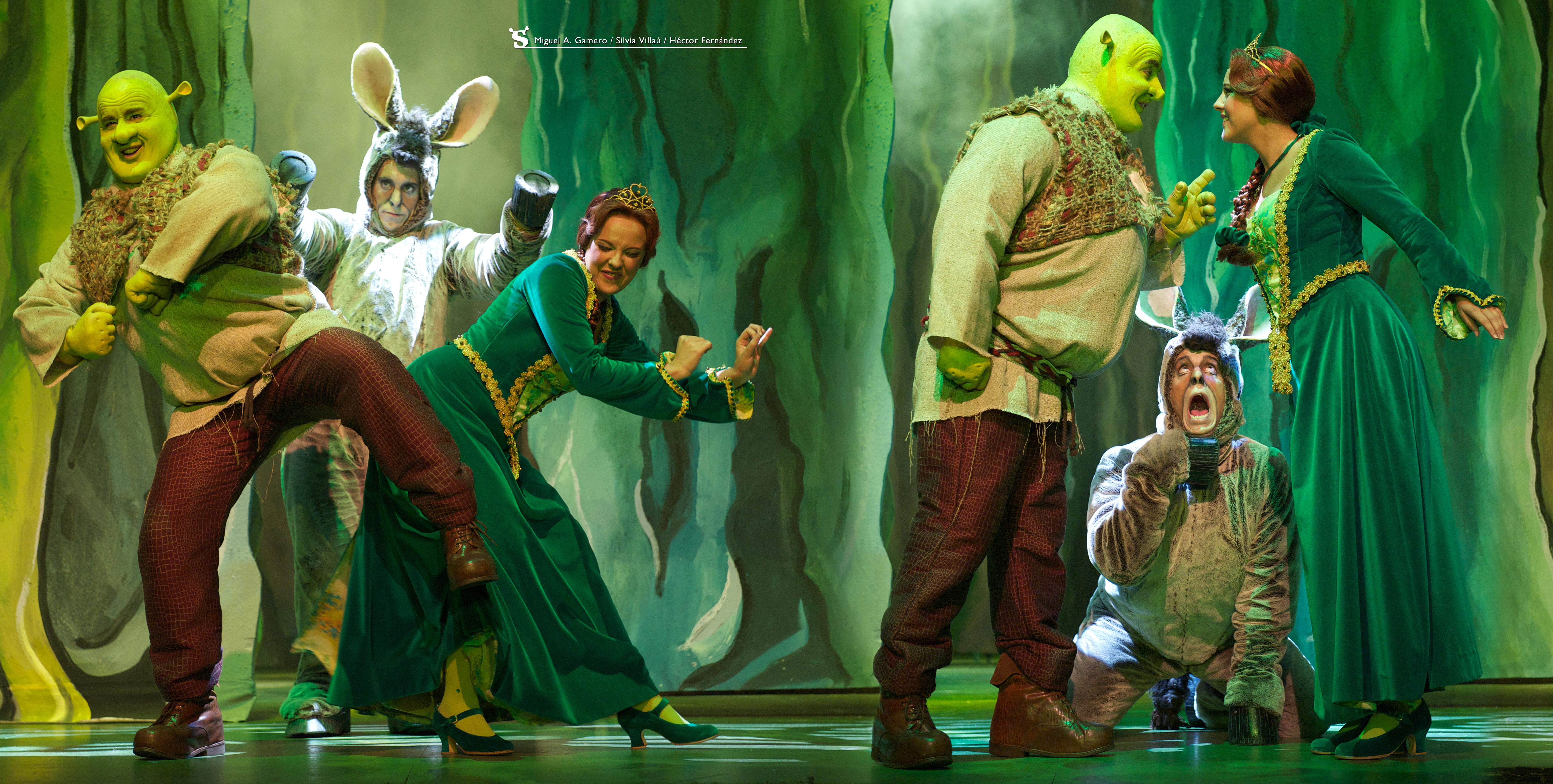 Shrek, Fiona y Burro