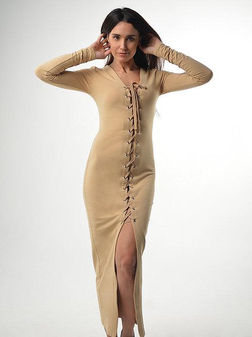Платье макси со шнуровкой