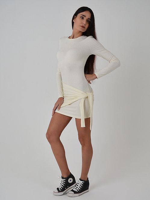Платье из лапши с поясом