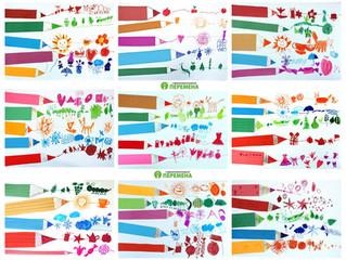ЧТО РИСУЕТ КАРАНДАШ ? Цветовые ассоциативные ряды. Аппликация. Фломастеры.