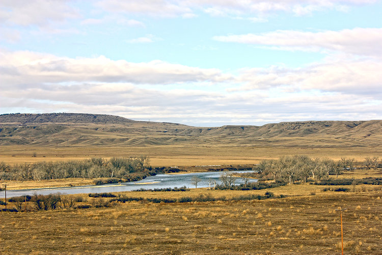 Bighorn River in January 2020