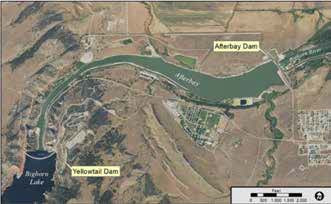 Overview of Yellowtail Unit Dam Area
