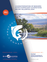 Characterization of Bighorn River Hydrologic Alterations Below Yellowtail Dam