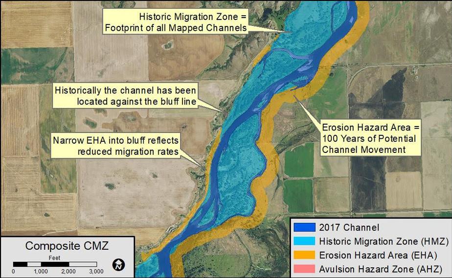 Figure 3: Composite Channel Migration Zone.