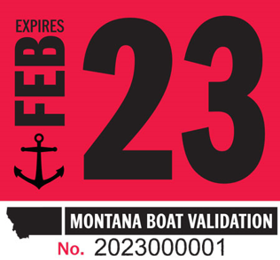 Time to Update your Montana Watercraft Validation Decal