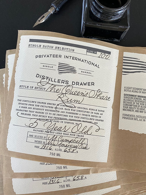Privateer Distiller's Drawer 5 Yr Old Queen's Share