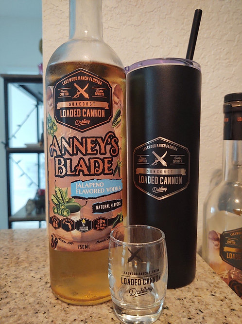Loaded Cannon Abbey's Blade Jalapeño Vodka