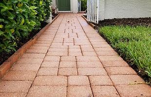 Brick pavers after pressure washing