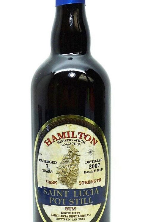 Hamilton Saint Lucia Pot Still Rum 7 Yr