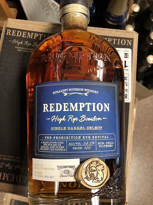 """Redemption High Rye Bourbon """"Siege the Day"""""""