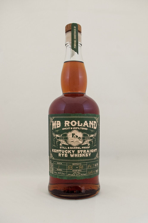 MB Roland Straight Rye Whiskey 750ml