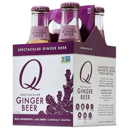 Q Ginger Beer 4 Pack Bottles