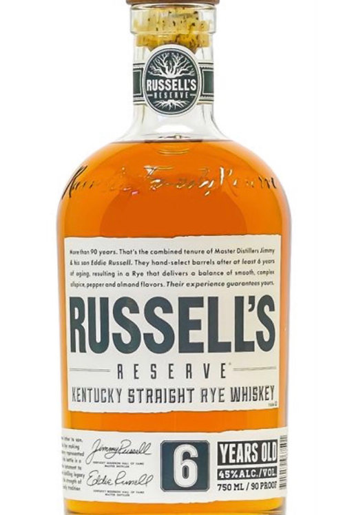 Russell's Reserve 6 Year Rye 750ml