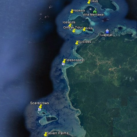 Distance to surfbreaks: