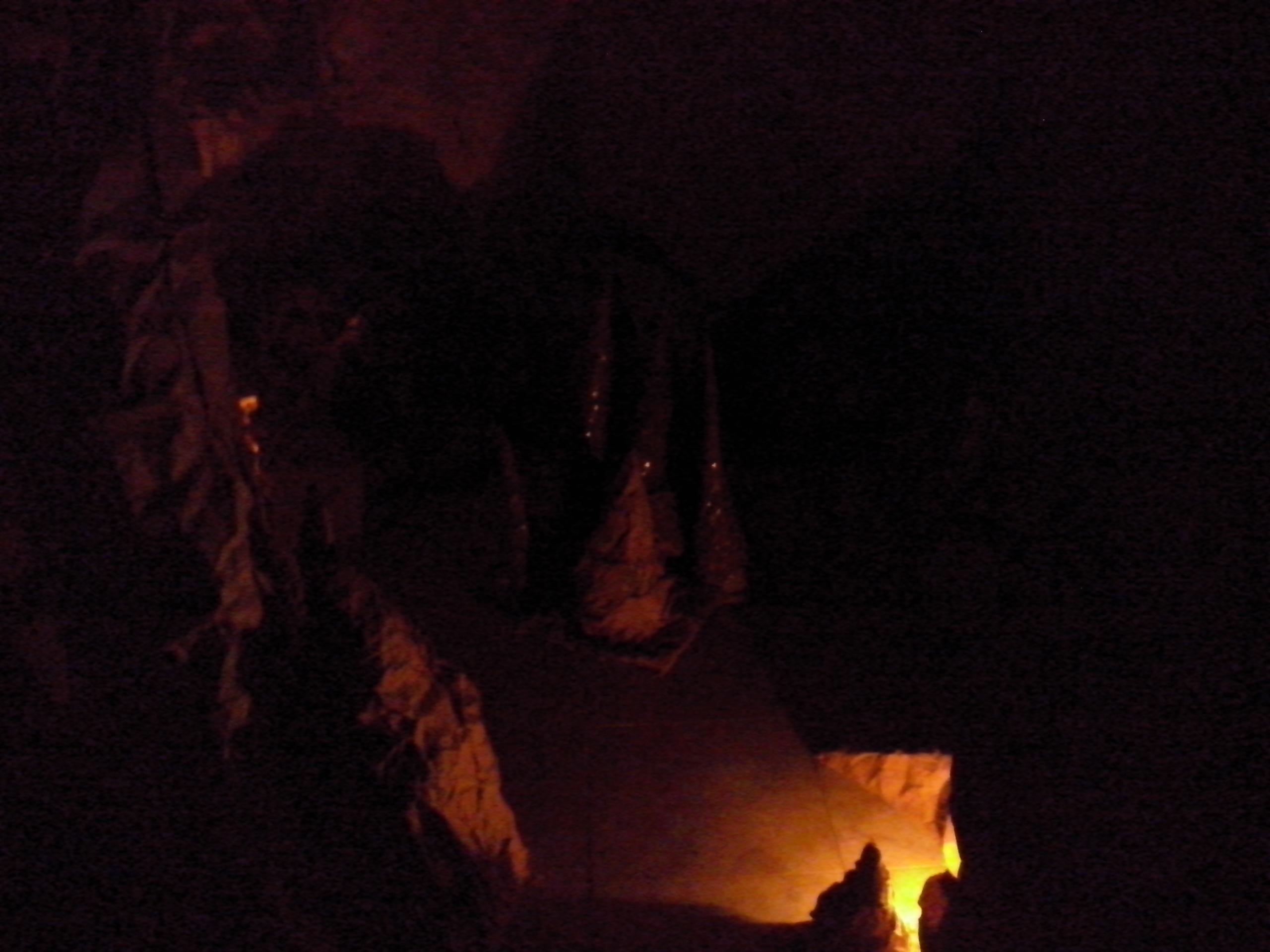 Caverna artificial por dentro