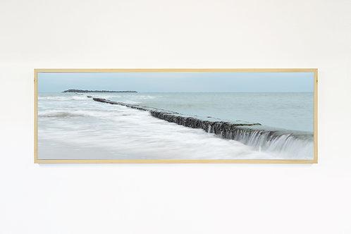 """JETTY"" Photo Canvas Print, Ocean Wall Art, Large Wall Art, Wave Art"