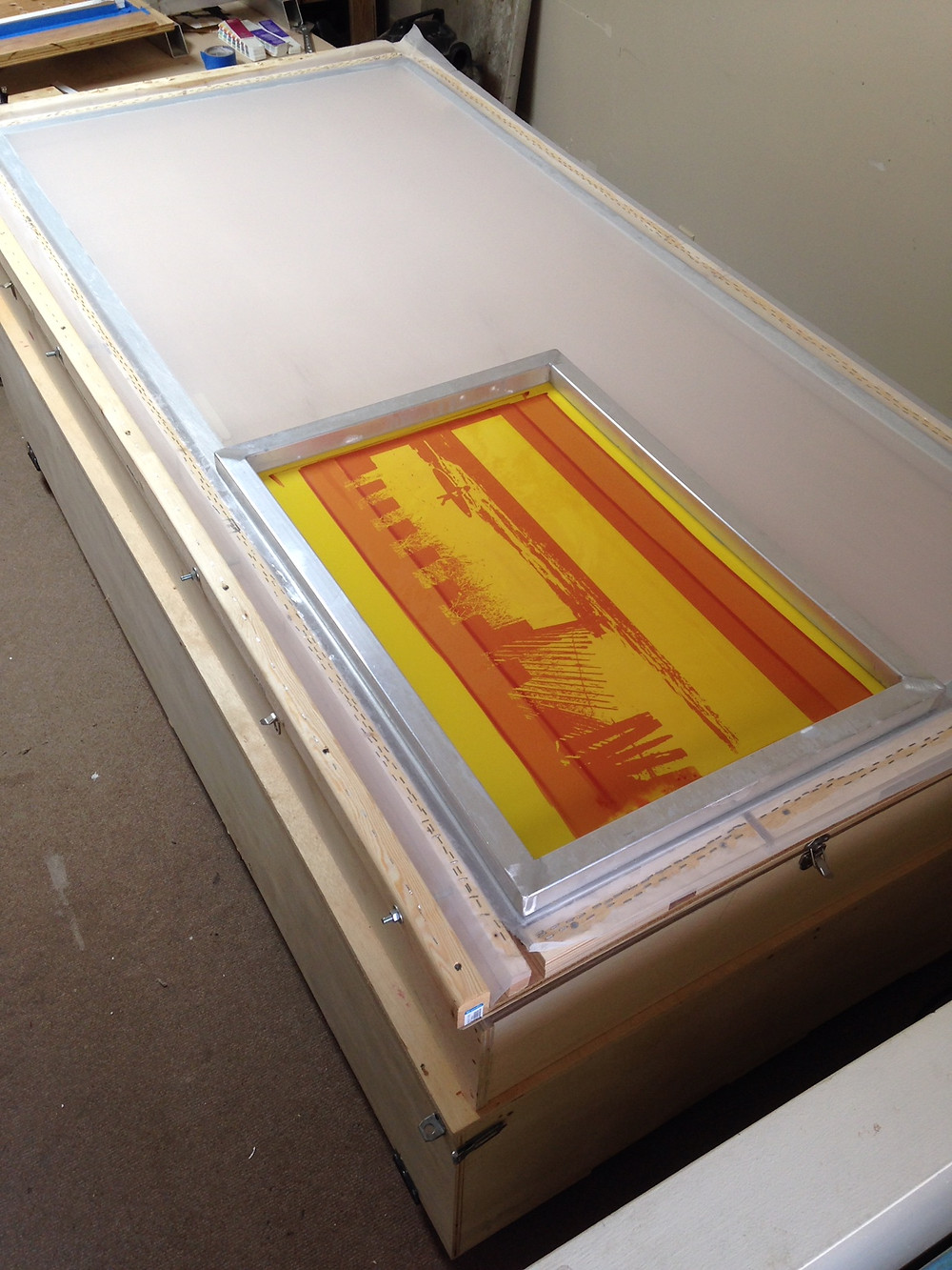 New Large Screen for screen printing!