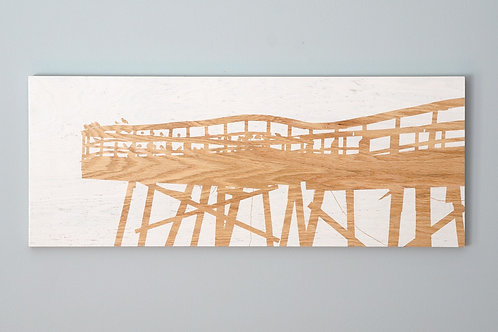 """SOLD / End of Pier / 30""""x12"""" / Crystal Pier / Wrightsville Beach"""