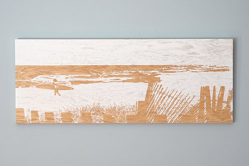 """SOLD / Good Session / 30""""x12""""/ Wrightsville Beach / NC"""