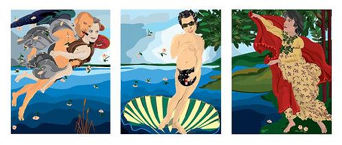 The Birth of Goldblum (Three Prints)