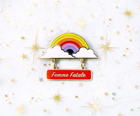 'Femme Fatale' Merit Dangler Lapel Pin
